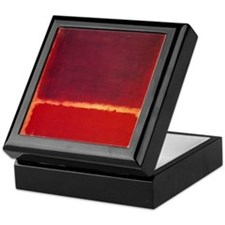 ROTHKO ORANGE RED Keepsake Box