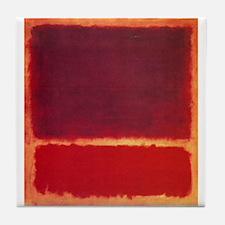 ROTHKO ORANGE RED Tile Coaster