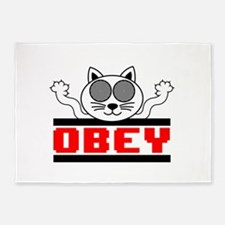 Obey 5'x7'Area Rug