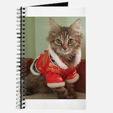 Siberian tabby kitten in empress jacket Journal