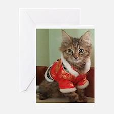 Siberian tabby kitten in empress j Greeting Cards