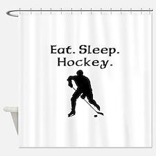Eat Sleep Hockey Shower Curtain