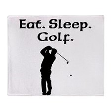 Eat Sleep Golf Throw Blanket