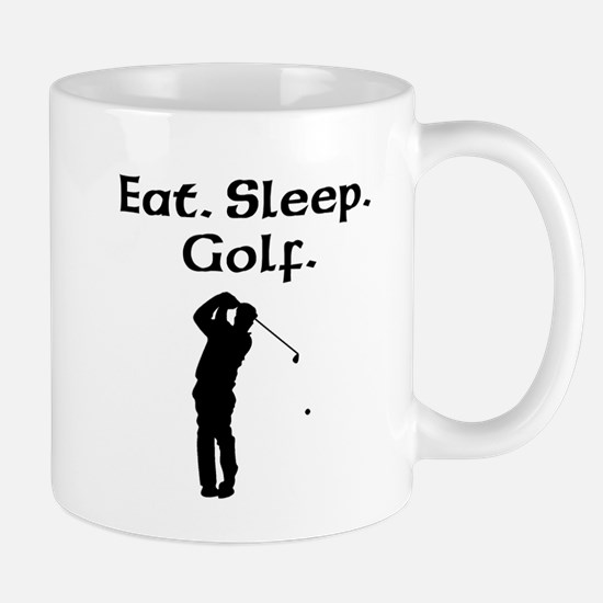 Eat Sleep Golf Mugs