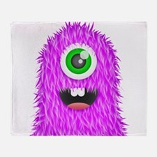 Purple Monster Throw Blanket