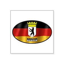 """Cute Berlin Square Sticker 3"""" x 3"""""""