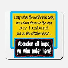 Kitchen Door Note Mousepad