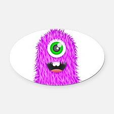 Purple Monster Oval Car Magnet