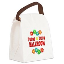 Peace Love Ballroom Canvas Lunch Bag