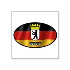 "Cute Oval germany Square Sticker 3"" x 3"""