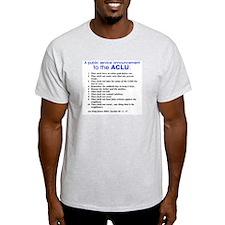 Ten Commandments to the ACLU- Ash Grey T-Shirt