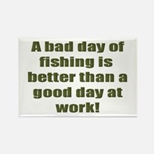 Bad Fishing day Rectangle Magnet