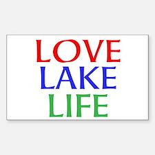 LOVE LAKE LIFE Decal