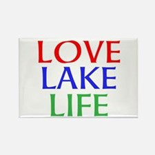 LOVE LAKE LIFE Magnets