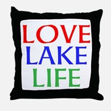 LOVE LAKE LIFE Throw Pillow