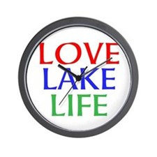LOVE LAKE LIFE Wall Clock