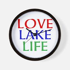 LOVE LAKE LIFE Wall Clock