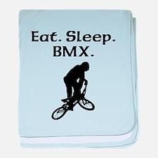 Eat Sleep BMX baby blanket