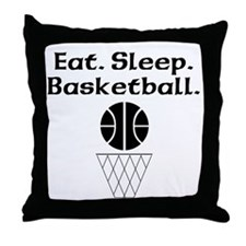 Eat Sleep Basketball Throw Pillow