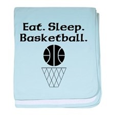 Eat Sleep Basketball baby blanket