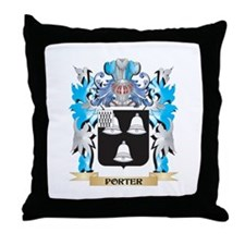 Porter Coat of Arms - Family Crest Throw Pillow