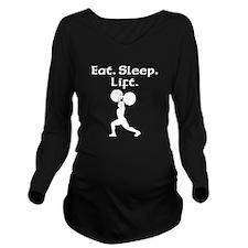 Eat Sleep Lift Long Sleeve Maternity T-Shirt