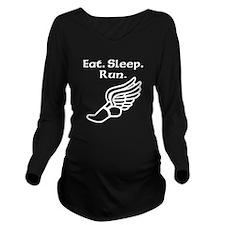 Eat Sleep Run Long Sleeve Maternity T-Shirt