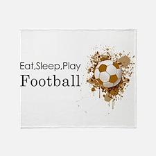Eat sleep play football Throw Blanket