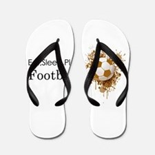 Eat sleep play football Flip Flops
