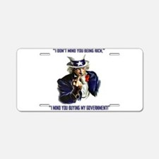 Uncle Sam Flipping The Bird Aluminum License Plate