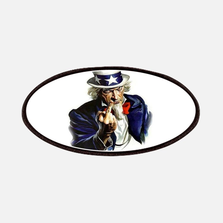 Uncle Sam Flipping The Bird Patch