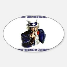 Uncle Sam Flipping The Bird Decal