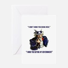 Uncle Sam Flipping The Bird Greeting Cards