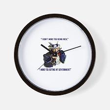 Uncle Sam Flipping The Bird Wall Clock