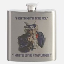 Uncle Sam Flipping The Bird Flask