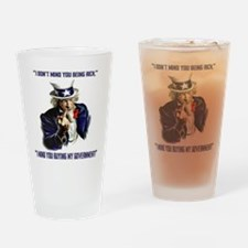 Uncle Sam Flipping The Bird Drinking Glass