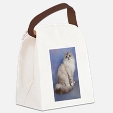 blue tabby colourpoint siberian c Canvas Lunch Bag