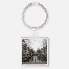 Cute Amsterdam Square Keychain