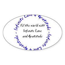 Infinite Love & Gratitude Oval Decal