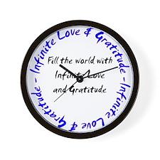 Infinite Love & Gratitude Wall Clock