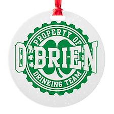 o'brien irish drinking team Ornament