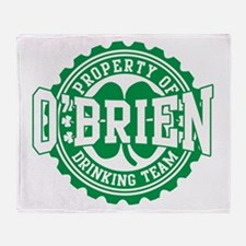 o'brien irish drinking team Throw Blanket