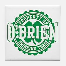 o'brien irish drinking team Tile Coaster