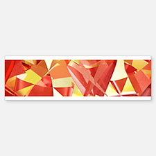 3D folded abstract Bumper Bumper Bumper Sticker