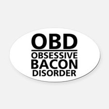 Eating disorders Oval Car Magnet