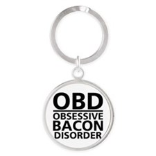 Cute Eating disorders Round Keychain