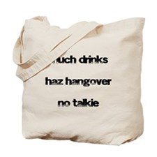 Cute Hung over Tote Bag