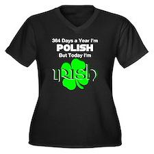 Unique Polish irish Women's Plus Size V-Neck Dark T-Shirt