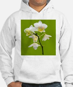 pretty white orchid flowers in g Hoodie