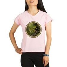 Ruby Leaf Dragon Performance Dry T-Shirt